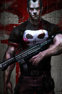 480x854 The Punisher Digital Artwork