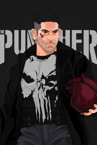 320x480 The Punisher Fan Artwork