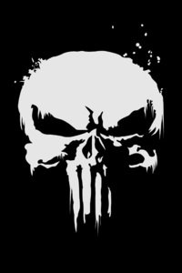 480x854 The Punisher Logo 4k