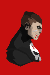 480x854 The Punisher Minimalism 4k