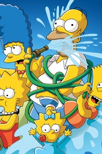 640x960 The Simpsons 4k