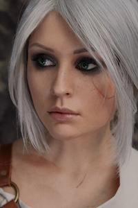 240x400 The Witcher 3 Wild Hunt Ciri Cosplay 4k