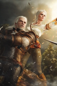 480x800 The Witcher 3 Wild Hunt Game Art