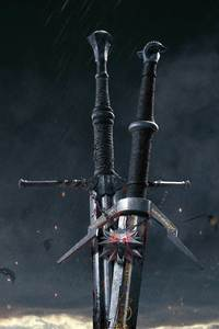 1080x1920 The Witcher 3 Wild Hunt Sword 10k