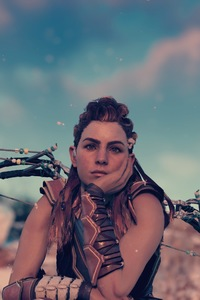 1080x1920 Thinking Horizon Zero Dawn 4k