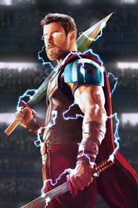 1080x1920 Thor God Of Thunder Artwork HD