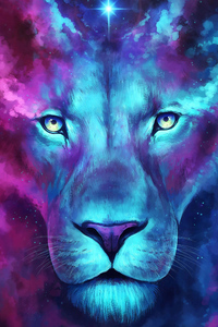 320x480 Tiger Colorful Art
