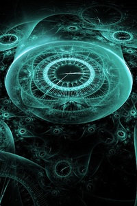 1280x2120 Time Clock Digital Creative Illustration