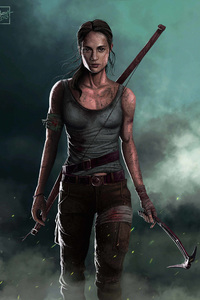 Tomb Raider Alicia Vikander Artwork