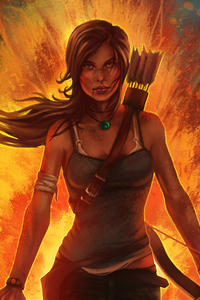 1440x2560 Tomb Raider Artworks