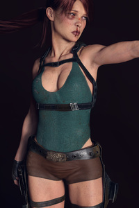 480x854 Tomb Raider Lara Croft 8k Digital Art