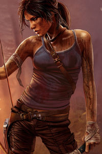 1440x2560 Tomb Raider Lara Croft Art 4k