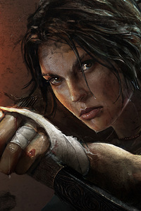640x960 Tomb Raider Lara Croft Artwork 4k