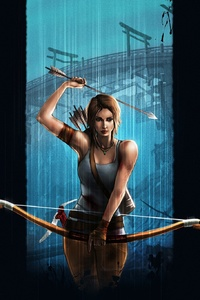 800x1280 Tomb Raider Lara Croft Video Game Art