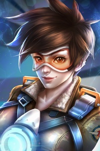480x800 Tracer Overwatch Game Art