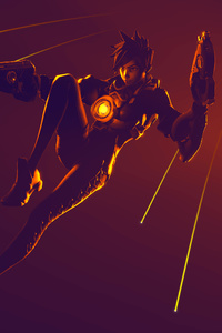 540x960 Tracer Ovewatch Art 4k