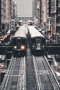 Train At Subway Station 5k