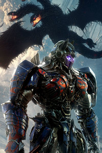 640x1136 Transformers The Last Knight Optimus Prime New Poster