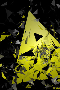 Triangle Broken Glass Abstract 5k