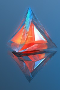 240x400 Triangle Geometry 3d Digital Art
