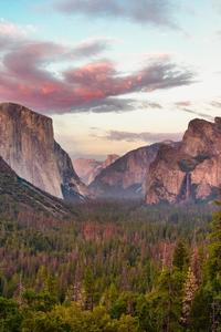 1125x2436 Tunnel View At Dusk Yosemite 5k