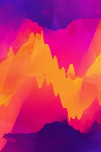1280x2120 Vector Abstract Graphics Colorful Fire