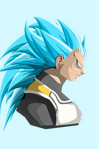 1125x2436 Vegeta Dragon Ball Super 4k Art