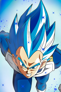 320x480 Vegita SSJ Blue Full Pawer