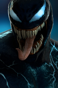 1440x2960 Venom 3d Digital Art