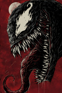 240x320 Venom 4k New Sketch Poster