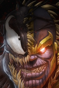 2160x3840 Venom And Thanos Crossover