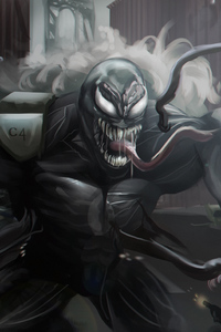 Venom Digital Artwork 5k