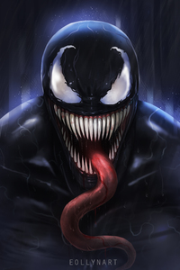 1080x2160 Venom Digital Fan Art 5k
