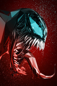 480x800 Venom Digital Illustration 4k