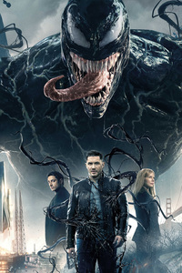 1125x2436 Venom Movie 2018 Official Poster
