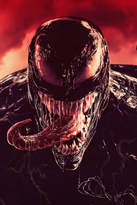 360x640 Venom Tounge Out Digital Art 4k