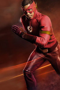 Wally West As The Flash Red Suit