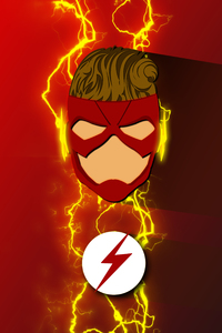 240x320 Wally West Refined Costume Artwork