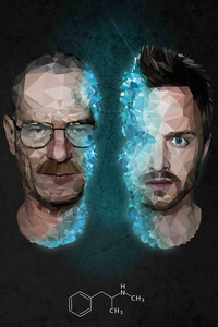 360x640 Walter White And Jesse Pinkman Breaking Bad 4k Low Poly