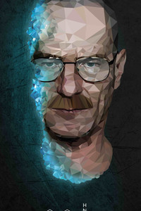360x640 Walter White In Breaking Bad 4k Low Poly
