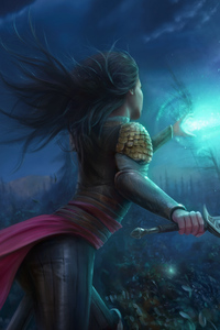 Warrior Fantasy Girl Art
