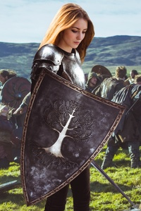 750x1334 Warrior Girl Photo Manipulation Fantasy Art 5k