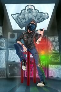 Watch Dogs 2 Game Cartoonic Artwork