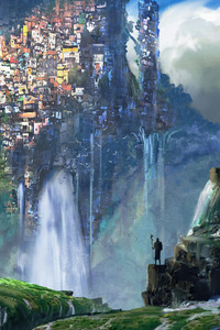 Waterfall Slums