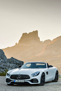 White And Silver Mercedes Benz AMG GT