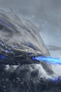 2160x3840 White Walkers Dragon Game Of Thrones