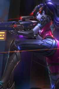 540x960 Widowmaker Overwatch 4k Game Artwork
