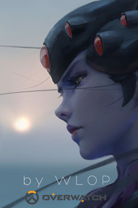 800x1280 Widowmaker Overwatch By Wlop