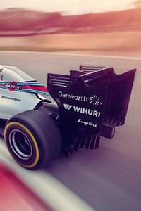 240x320 Williams 2014 F1 Car Rear