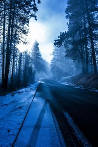 540x960 Winter Road Nature 5k